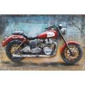 Tableau sur Bois & Métal 3D : La Moto Triumph, L 120 cm
