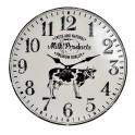 Horloge rétro en métal, Mod Vache Milk Products, Diam 40 cm