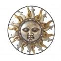 Soleil décoratif mural XL, Collection Bright & Yellow Mod 3, Diam 51 cm