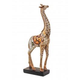Statuette Girafe Ethnik mod 2, H 34 cm