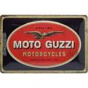 Plaque 3D métal Logo Moto Guzzi Motorcycles, Format, 30 x 20 cm