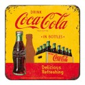 Sous-bock Métal & Liège : Modèle Coca-Cola, Drink in Bottles, 9 x 9 cm