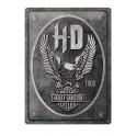 Plaque 3D métal Harley Davidson : Eagle HD Since 1903, 40 x 30 cm