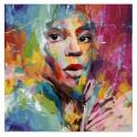 Tableau Femme : Elle en couleurs 2, H 80 cm