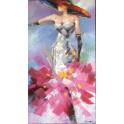 Tableau Femme : Lady Cabaret, H 140 cm