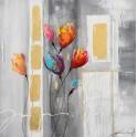 Tableau floral & abstrait : Florilège, H 70 cm