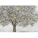 Tableau Design Arbre : De l'or en arbre, L 100 cm