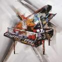 Tableau Design Musique : Piano Colorato, H 60 cm