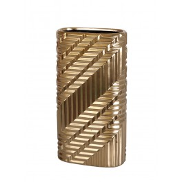 Vase droit : Collection Equinoxe, Gold 1, H 37 cm