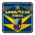 Sous-bock Métal & Liège : Modèle Goodyear Tires, 9 x 9 cm