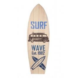Déco Planche de Surf Murale : Mod Adventure Wave, H 75 cm