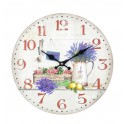 Horloge murale Déjeuner champêtre en Provence 3, Diam 34 cm