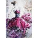 Tableau moderne Femme : Nuit parisienne, H 120 cm