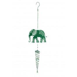 Suspension Eléphant métal & Perle acrylique, H 70 cm