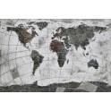 Tableau peint Planisphère : La Carte d'Atlas, L 120 cm