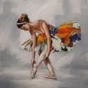 Tableau Danseuse : Ballerine multicolore, H 80 cm