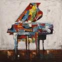 Tableau Design Musique : Piano Colorato 2, H 100 cm