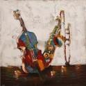 Tableau Design Musique : Concerto Colorato, H 100 cm