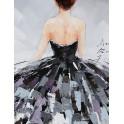 Tableau moderne Femme : Défile endiablé 1, H 100 cm