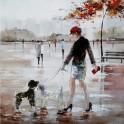 Tableau moderne : Sortie au Parc Monceau, H 100 cm
