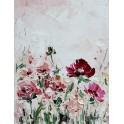 Tableau Design floral : Rose prairie, H 70 cm