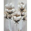 Tableau Design floral : Eclosion, H 80 cm