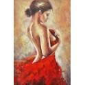Tableau moderne Femme : Dos nu, H 90 cm
