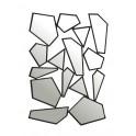 Miroir Design : Modèle Electro-Chic à éclats, H 100 cm