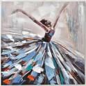 Tableau Danseuse : Ballerine multicolore 4, H 90 cm