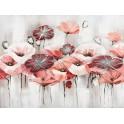 Tableau Fleurs des champs : Rouge, Rose et puis s'en vont, L 120 cm