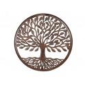Décoration murale Bois : Arbre de vie marron, Mod 10, H 90 cm