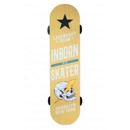 Déco murale Bois : Planche de Skateboard vintage, Mod Jaune, H 80 cm