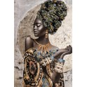 Tableau Africaine : Tribute to AfrIcan Woman 1, H 100 cm