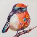 Tableau Peinture Oiseau : Serin Serein, Mod 1, H 40 cm