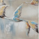 Tableau Peinture Animaux : Oies Sauvages, Mod 2, H 25 cm