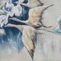 Tableau Peinture Animaux : Oies Sauvages, Mod 1, H 25 cm