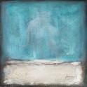 Tableau Peinture Abstrait : Blue Motion, H 70 cm