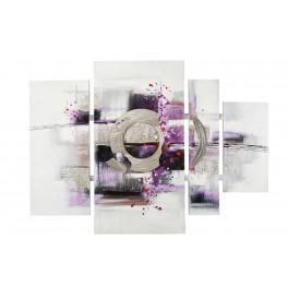 Tableau Peinture Abstrait : Purple Life, L 109 cm