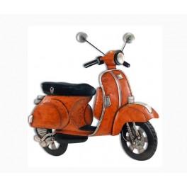 Dko Plaques : Le scooter old school orange, L 73 cm