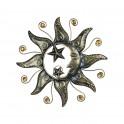Déco murale Métal : Soleil & Etoiles, Diam 45 cm