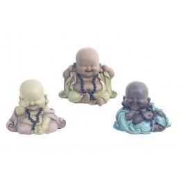 Figurine 3 Moines de la Sagesse, Collection Baby Zen, H 11 cm
