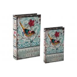 Set 2 Boites Livres : Modèle Oiseau 1, H 26 cm (Grand modèle)