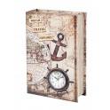 Boite Livre Horloge : Bateau & Navigation, H 27 cm