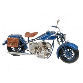 Moto miniature métal, Mod Bleu, L 27 cm