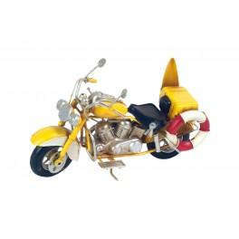 Moto vintage Rouge : Harley Davidson & Surf, L 19 cm