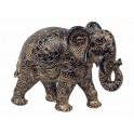 Eléphant Résine : Modèle Mandala Bombay, H 20 cm