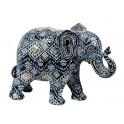 Eléphant Résine : Modèle Siam, H 27 cm