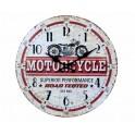 Horloge MDF Moto : Mod Motorcycles, Rouge, Diam 34 cm