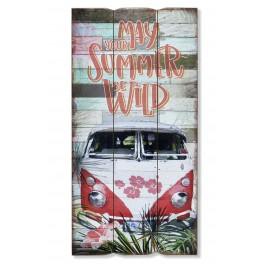 Déco murale bois Summer time: Combi Rouge, H 60 cm