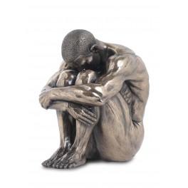 Statuette homme : Introspection, hauteur 15 cm
